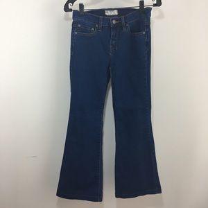 Free People Blue Medium Wash Boot Cut Jeans